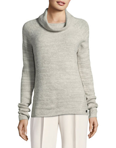 Manguun Cowl Neck Sweater-GREY-Medium