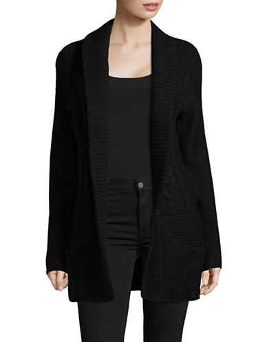 Manguun Heavy Knit Cardigan-BLACK-Large