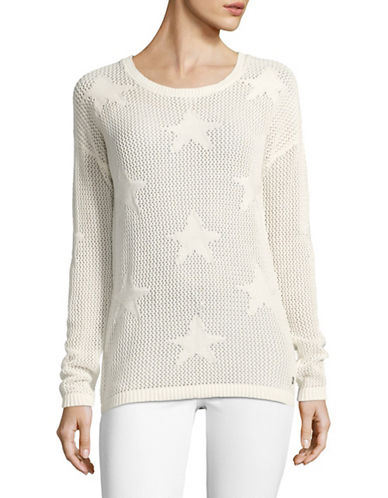 Manguun Drop Shoulder Sweater-WHITE-Medium