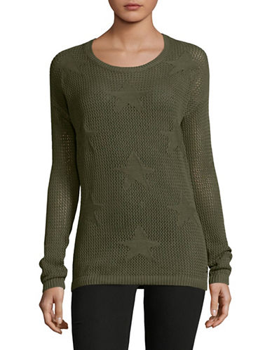 Manguun Drop Shoulder Sweater-GREEN-Large
