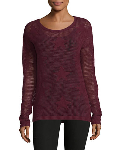 Manguun Drop Shoulder Sweater-WINE-Medium