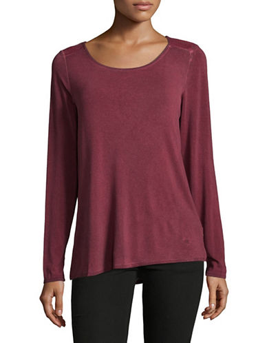 Manguun Long Sleeve T-Shirt-WINE-Medium