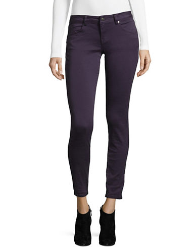 Manguun Classic Skinny Jeans-PURPLE-38