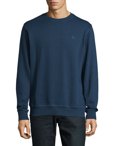 Manguun Crew Neck Sweater-BLUE-Small 89446890_BLUE_Small