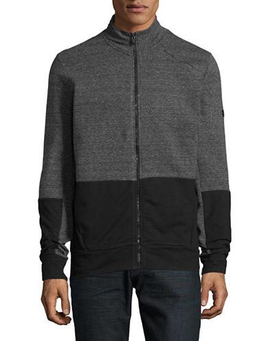 Manguun Two-Tone Zip Jacket-GREY-Small