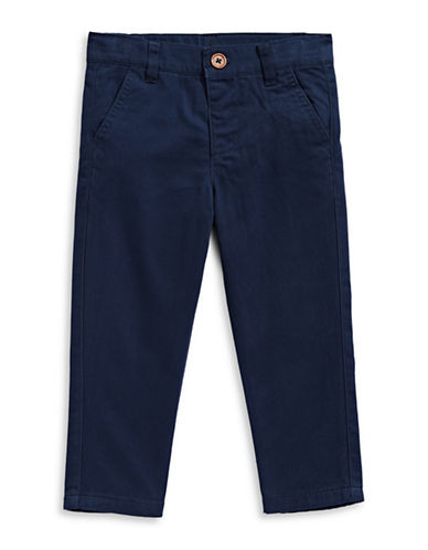 Bob Der Bar Creased Wool-Blend Dress Pants-BLUE-2