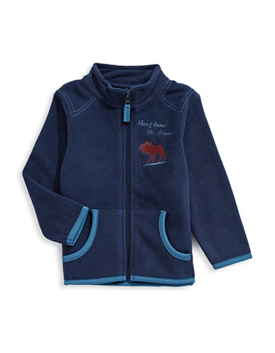 Bob Der Bar Long Sleeve Fleece Jacket-BLUE-24 Months