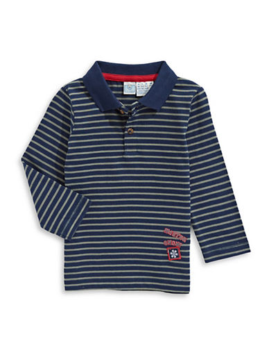 Bob Der Bar Striped Polo Shirt-BLUE-3-6 Months