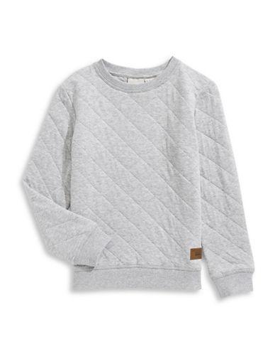 Manguun Diamond-Quilt Sweatshirt-GREY-Small 89499669_GREY_Small