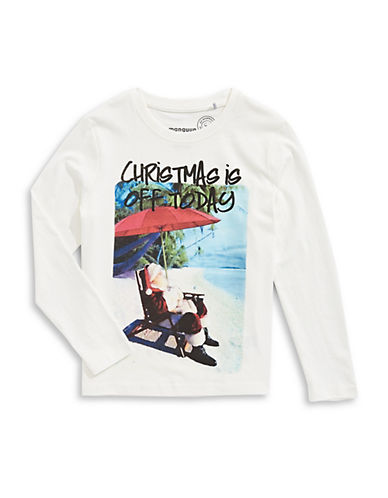 Manguun Christmas Tree Graphic Tee-WHITE-Medium