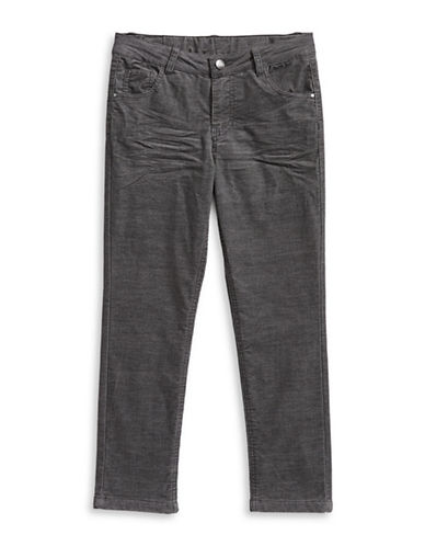 Manguun Thermal Corduroy Jeans-GREY-12