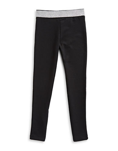 Manguun Heathered Leggings-BLACK-Medium