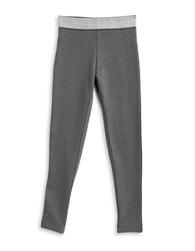 Manguun Heathered Leggings-MELANGE-X-Large