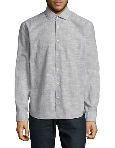 Black Brown 1826 Solid Dress Shirt-GREY-Medium