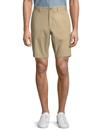 Black Brown 1826 Stretch Twill Shorts-BEIGE-34