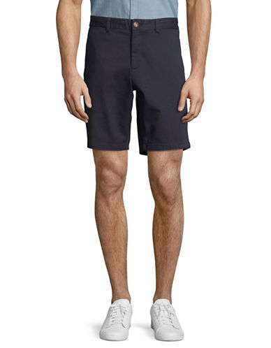 Black Brown 1826 Stretch Twill Shorts-BLUE-30