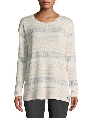 Manguun Jacquard Print Knit Top-WHITE-Small 89604857_WHITE_Small
