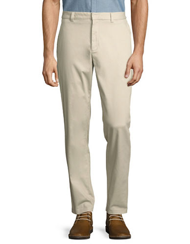 Black Brown 1826 Stretch Bedford Cord Trousers-BEIGE-38X32