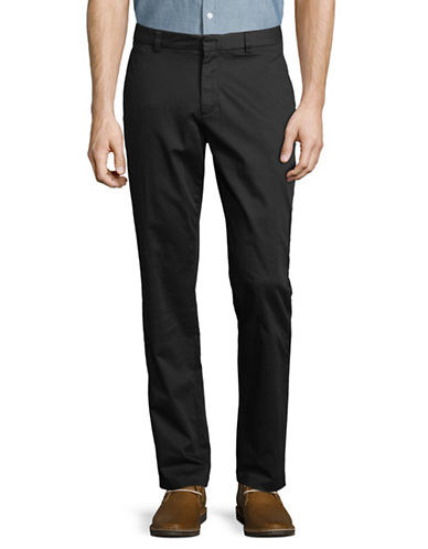 Black Brown 1826 Stretch Bedford Cord Trousers-BLACK-38X32