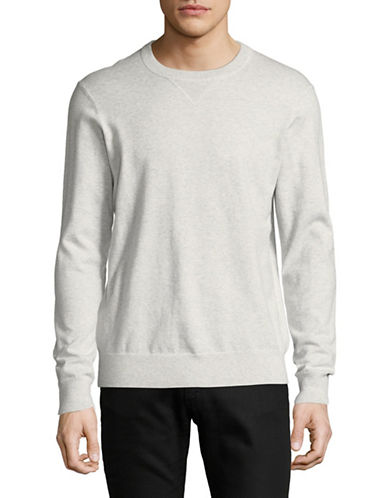Black Brown 1826 Crew Neck Sweater-LIGHT GREY-Medium