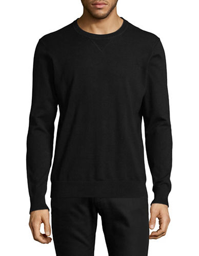 Black Brown 1826 Crew Neck Sweater-BLACK-Small