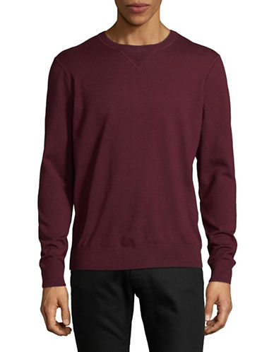Black Brown 1826 Crew Neck Sweater-RED-Large