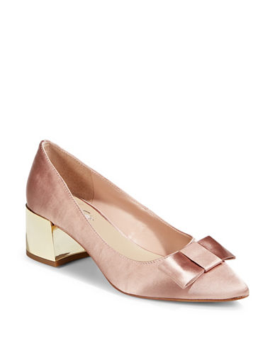 424 Fifth Darcy Block Heel Pumps-PINK-7.5