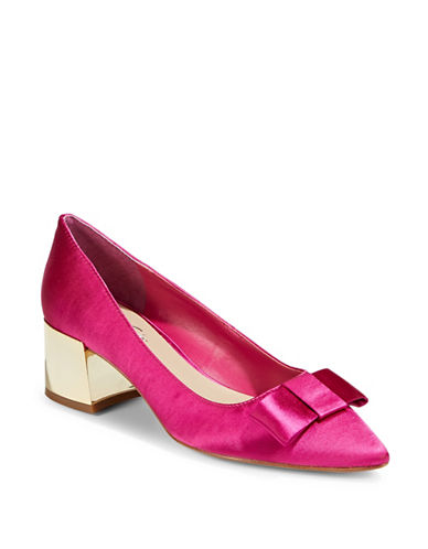 424 Fifth Darcy Block Heel Pumps-FUSCHIA-8.5