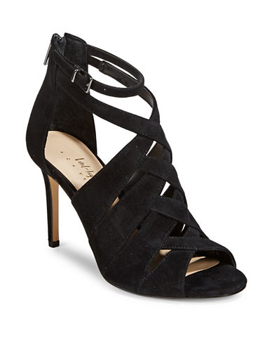 424 Fifth Gema Caged Leather Sandals-BLACK-9