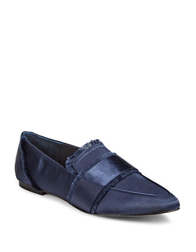 424 Fifth Hayden Satin Loafers-NAVY-10