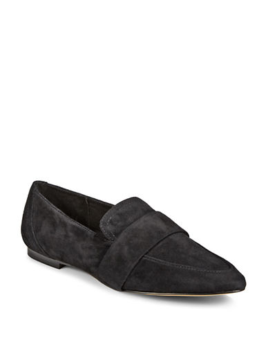 424 Fifth Hayden Suede Loafers-BLACK SUEDE-9