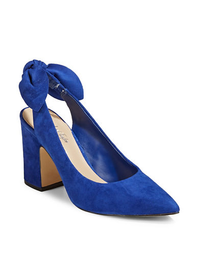 424 Fifth Laci Pointy Slingback Pumps-COBALT-6.5