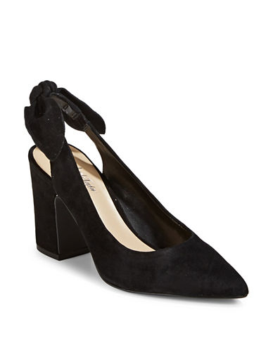 424 Fifth Laci Pointy Slingback Pumps-BLACK-6