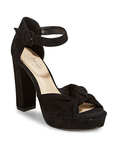 424 Fifth Maxwell Leather Platform Sandals-BLACK-6.5