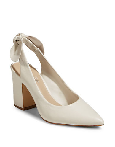 424 Fifth Laci Pointy Slingback Pumps-VANILLA-8.5