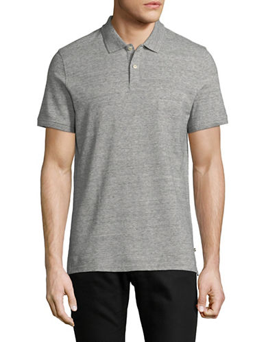 Black Brown 1826 Cotton Pique Short-Sleeve Polo-GREY-Medium