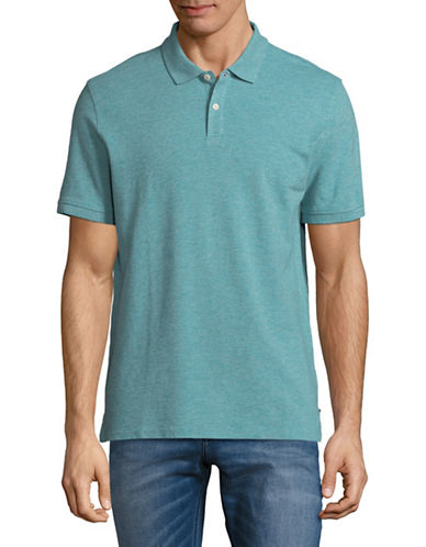 Black Brown 1826 Cotton Pique Short-Sleeve Polo-SAGE HEATHER-Large