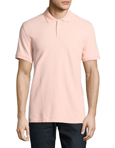 Black Brown 1826 Cotton Pique Short-Sleeve Polo-PINK-X-Large