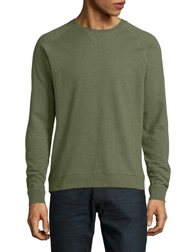 Black Brown 1826 Interloop Crew Neck Long-Sleeve Sweater-OLIVE-Medium