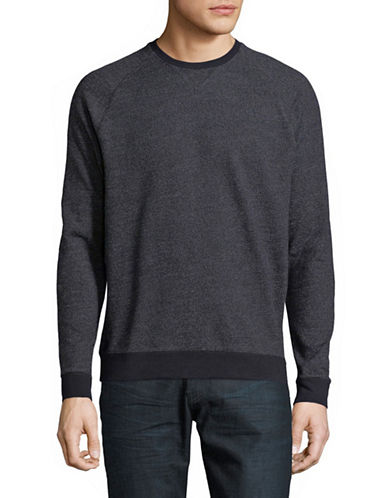 Black Brown 1826 Interloop Crew Neck Long-Sleeve Sweater-GREY-XX-Large