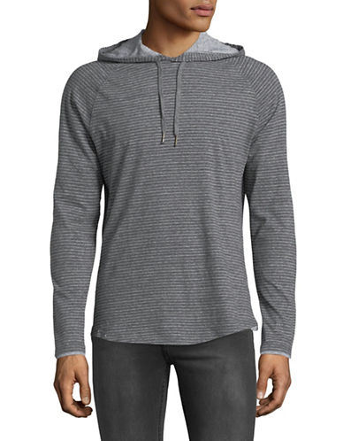 Black Brown 1826 Cloud Heather Cotton Jersey Hoodie-DARK GREY-XX-Large