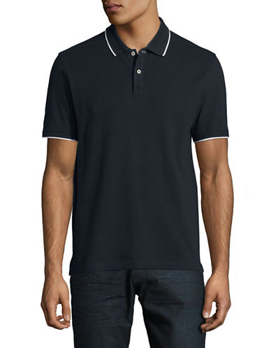 Black Brown 1826 Slim-Fit Short-Sleeve Polo-MID NAVY-Large