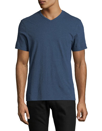 Black Brown 1826 Supersoft V-Neck Cotton Tee-DARK NAVY-Large