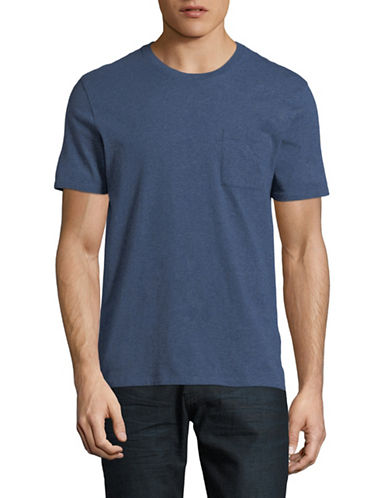 Black Brown 1826 Super Soft Crew Neck T-Shirt-BLUE-X-Large