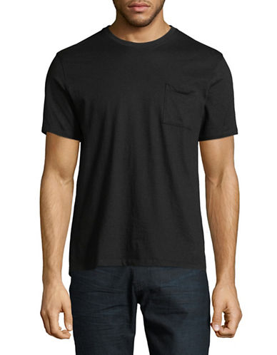 Black Brown 1826 Super Soft Crew Neck T-Shirt-BLACK-Large