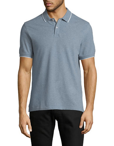 Black Brown 1826 Slim-Fit Short-Sleeve Polo-GREEN-X-Large
