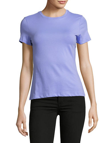 Lord & Taylor Petite Classic Short-Sleeve Tee-PASTEL BLUE-Petite Large
