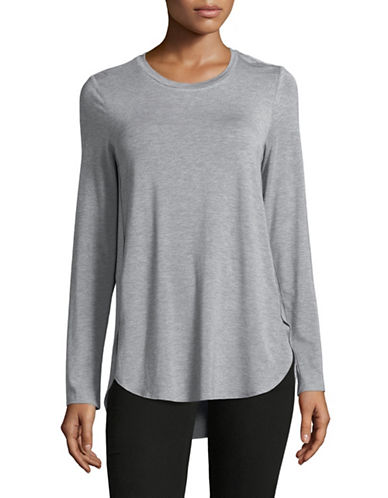 Lord & Taylor Curved Hem Tunic-GREY-X-Large