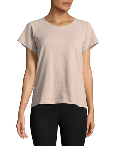Lord & Taylor Short Sleeve Raglan Tee-PEARL GREY-Small