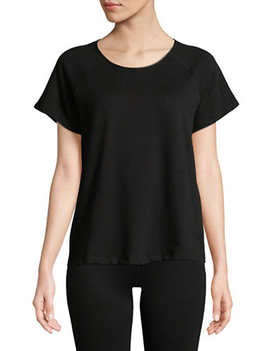 Lord & Taylor Short Sleeve Raglan Tee-BLACK-X-Large